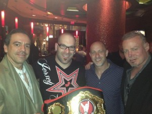 Congratulating Brendan Barrett On His Recent Ring Of Combat Heavyweight Title Win